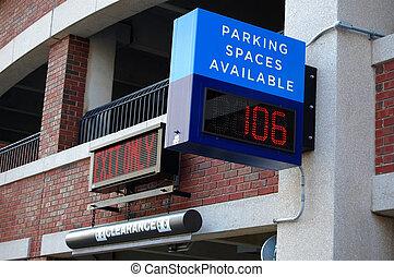 Parking structure entrance