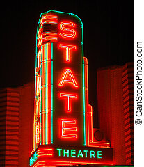 State theater sign - State Theater sign, Ann Arbor, MI
