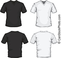 v-neck shirt template