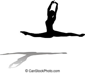 Free flowing Ballet Dancer - Vector Illustration of Free...