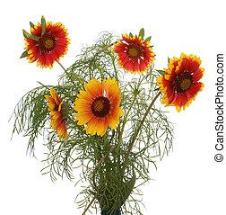 Celebratory bouquet of summer flowers