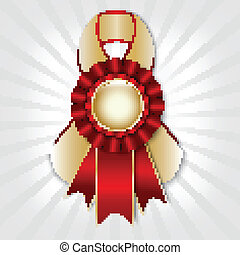 Prize ribbon - Red vector prize ribbon with place for text