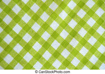 Green Gingham Tablecloth Material