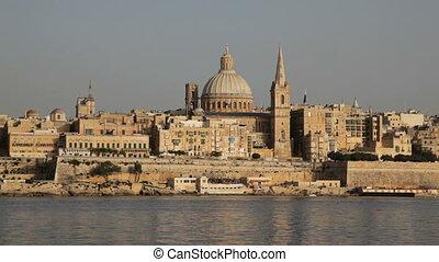 Valletta, Malta - The skyline of the Maltese capital...