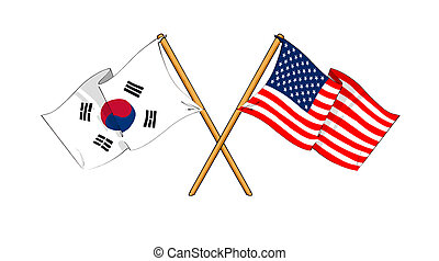 America and South Korea alliance and friendship -...