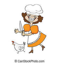 the best cook certificate with funny cook who runs a chicken