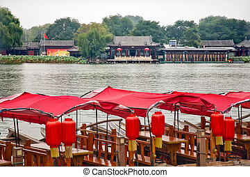 Red Boats Houhai Lake Beijing, China