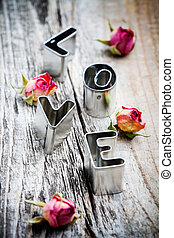 Love cookie cutter - Cute little cookie cutters for word...