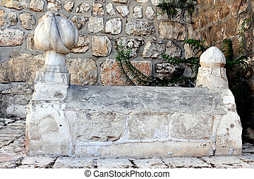 Travel Photos of Israel - Jerusalem - The graves of one of...