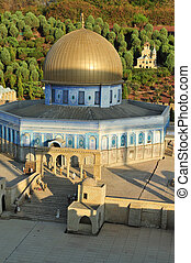 Travel Photos of Israel - Mini Israel - Miniature of Dome of...