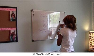 Homeschool Geometry - Homeschooler proud of geometry work