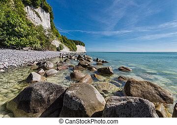 The Baltic Sea coast on Ruegen (Germany).