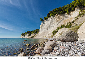 The Baltic Sea coast on Ruegen Germany