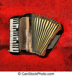 Accordion 1 - Accordion painting
