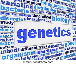 concettuale, manifesto, genetica, disegno