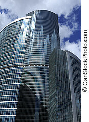 office towers - Modern office towers are rising towards the...