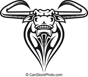 Wild buffalo mascot - Wild buffalo bull head for mascot or...