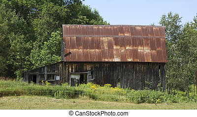 old barn in rural ontario