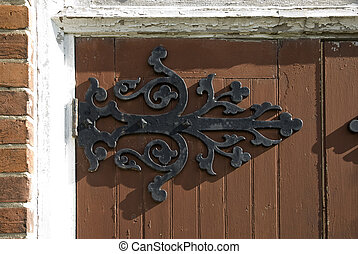 old forged door hinge - antique forged door hinge
