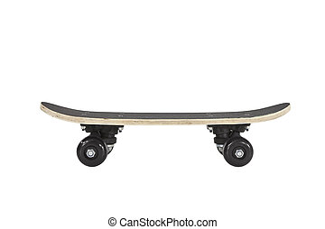 Skateboard Profile Isolated With Clipping Path