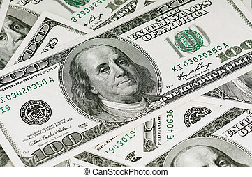 Dollars background - Money background, heap of dollars,...