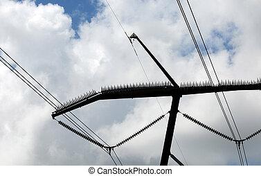 Bird deterrent - Electric power lines and bird deterrent
