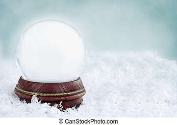Blank Snow Globe - Blank snow globe with with copy space...