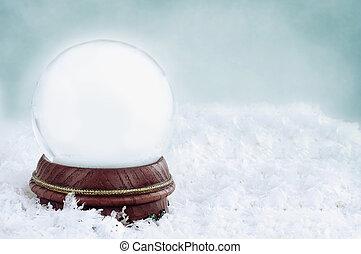 Blank Snow Globe - Blank snow globe with with copy space...
