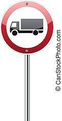 Motor lorry traffic sign