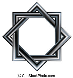 Celtic star vector - Celtic star pattern consisting of two...