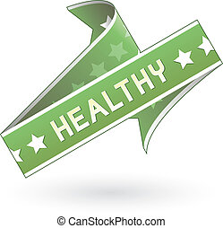 Healthy food or product label - Health label sticker for...