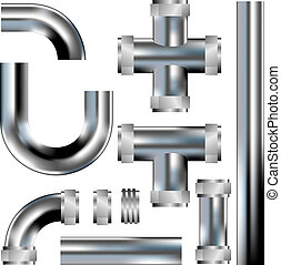 Plumbing pipes vector