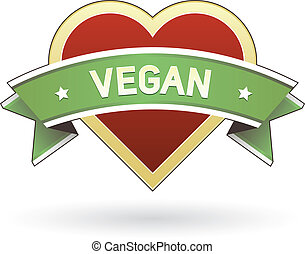 Vegan food label sticker for product website, print...