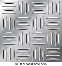 Seamless large metal hatch - Vector illustration of...