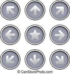 Direction arrow icon set - Direction arrow icons on modern...