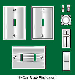 Stainless steel light switches - Electrical outlets and...