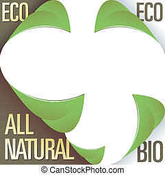 Eco and bio product labels - Eco and all natural corner...