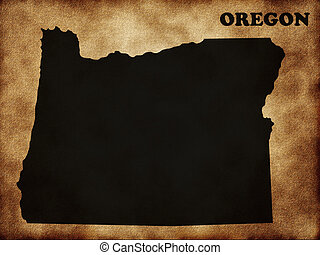 Map of the state Oregon
