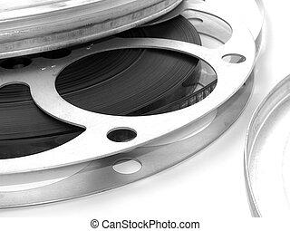 Movie reel with aluminium case