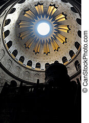 Sepulchre of Jesus Christ in the church of the holy...
