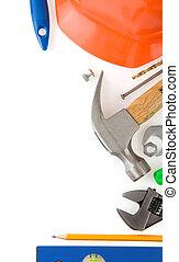 儀器, 白色, 集合, 工具, 被隔离