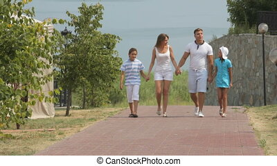 Family resort - Family enjoying themselves on vacation...
