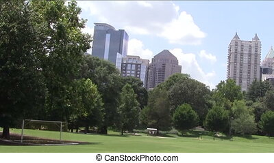 Atlanta Skyline from Piedmont Park.