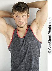 Sexy young man - Very good looking young male model with...