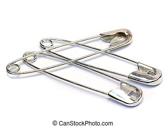 Saftey pins - Safety pins on a white background