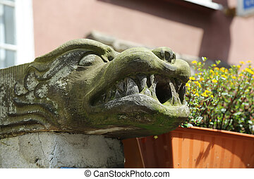 Gargoyle Gdansk - a gargoyle for rainwater in Gdansk, Poland
