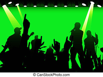 rock-and-roll live - rock concert with rays f/x, made from...