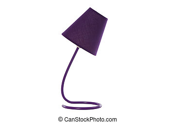 desk lamp isolated on white - mauve desk lamp isolated on...