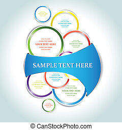 Paper bubbles web design isolated. Vector illustration
