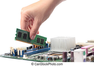 Computer mainboard hardware and installation memory
